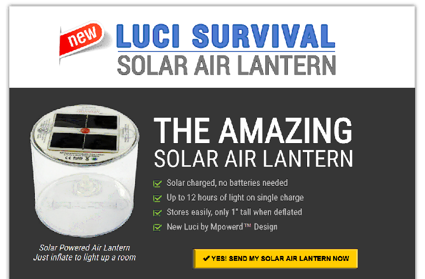 An Ingenious Solar-Powered Air Lantern