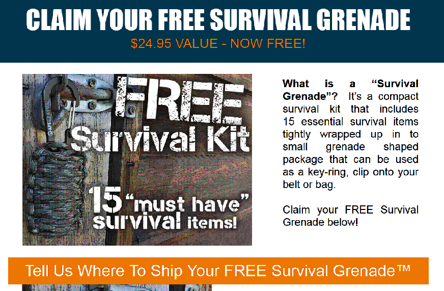 Get a FREE Survival Kit